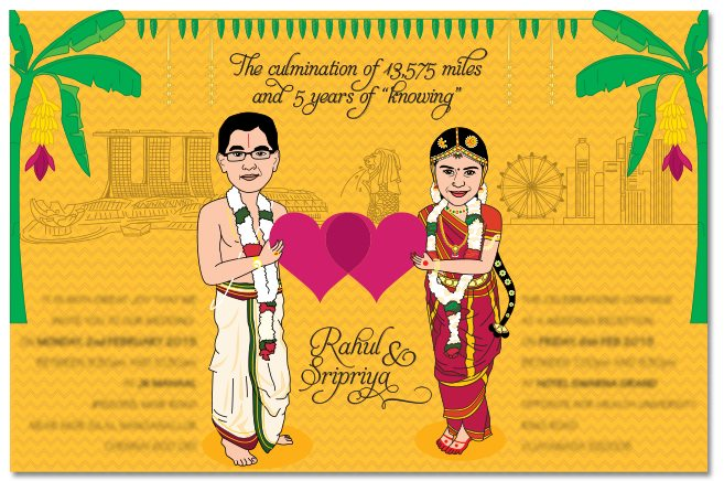 Caricatures The Perfect Way To Send A Personalized Wedding Invitation India S Wedding Blog