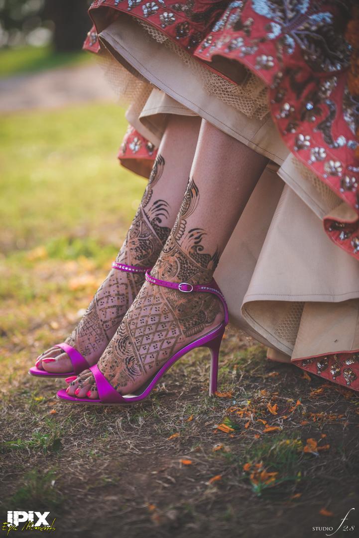 pink wedding shoes for Sikh bride wedding in Goa Grand Hyatt