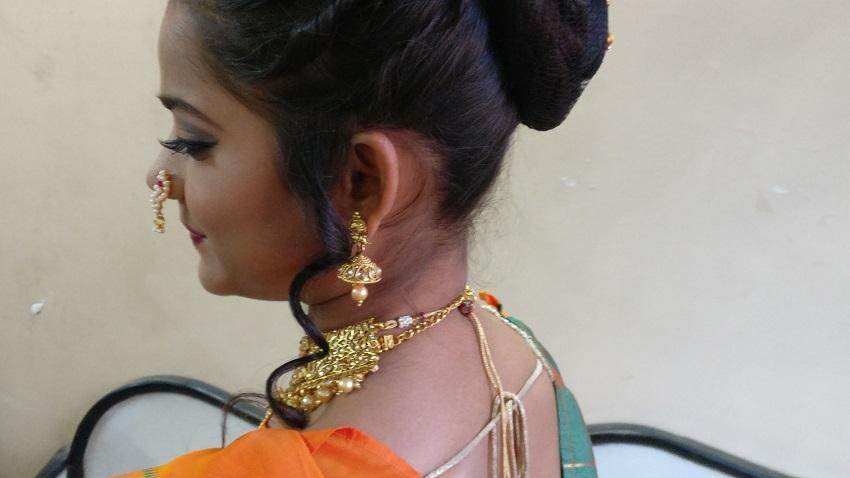 step by step marathi bridal look