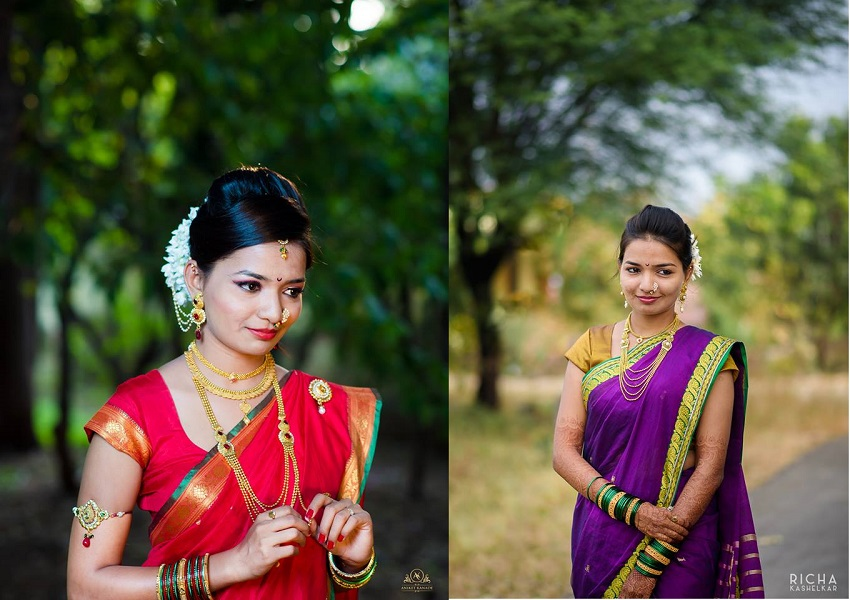 marathi wedding saris