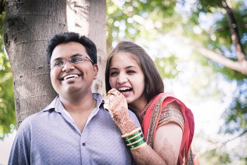 couple Marathi real wedding