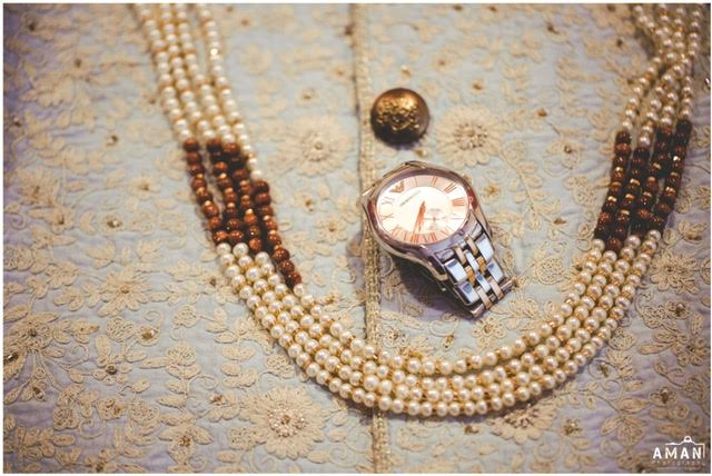 watch and jewelry for Indian groom