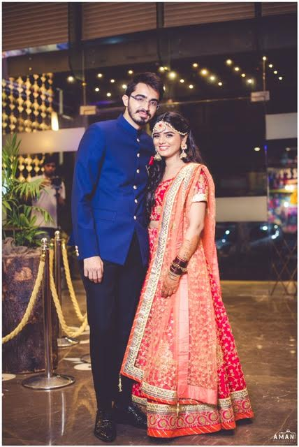 groom and bride at real wedding Amritsar makeup by Shahid Naar