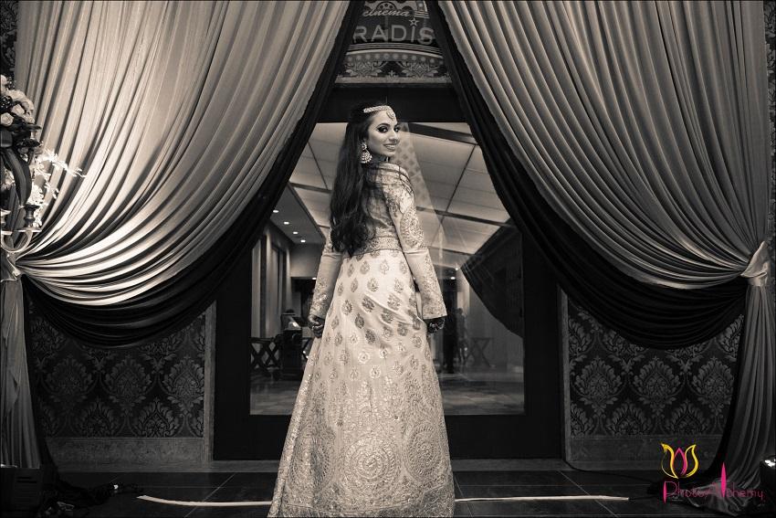 wedding dress Indian bride fusion Marwari Tamil destination wedding in Goa Photoalchemy team