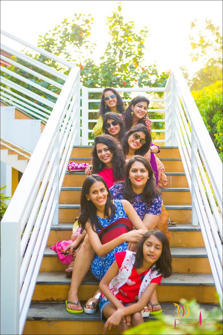 bridesmaids fusion Marwari Tamil destination wedding in Goa