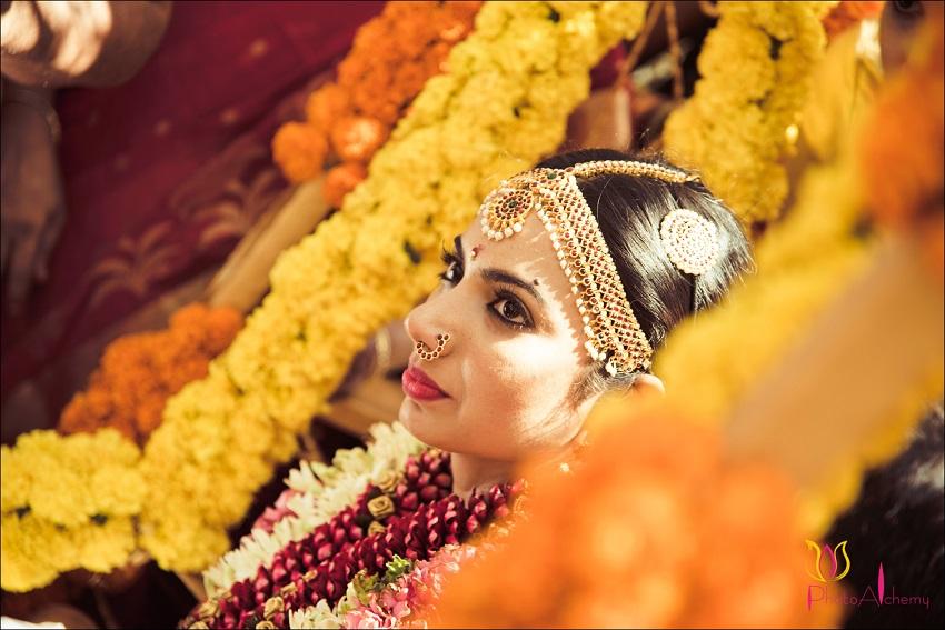 beautiful bride-real fusion wedding Tamil Marwari wedding Photoalchemy