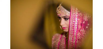 pink lehenga real wedding beautiful bridal hairstyle Indian real wedding by Studio Snapster Raipur