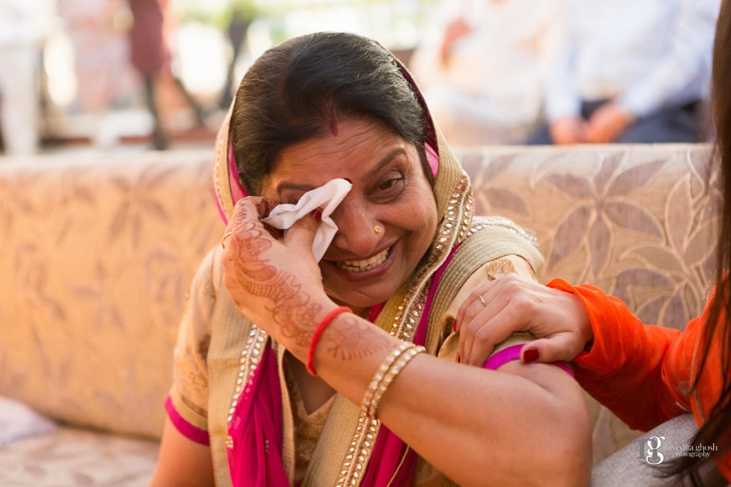 mother cries during wedding Nivedita Ghosh Photography real wedding at Club Millennium Juhu