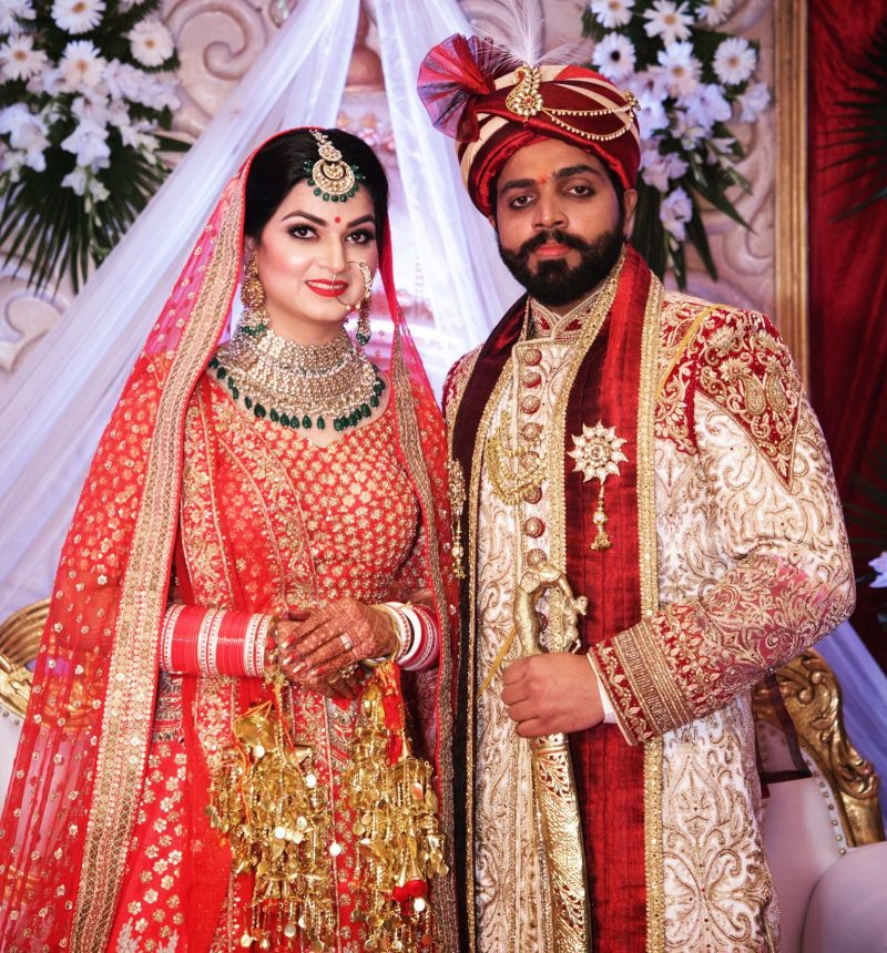 Indian couple after their wedding