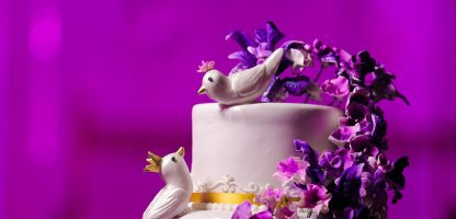 wedding cake with cake topper