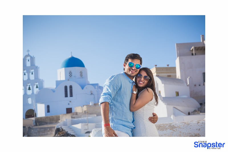 Indian couples honeymoon in Santorini Mykonos Greece and Spain