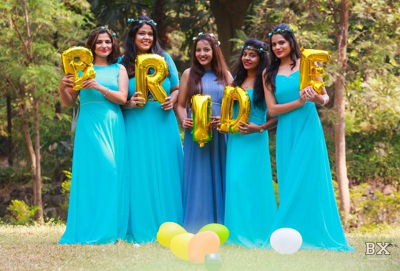 blue bridesmaid dresses beautiful shoot