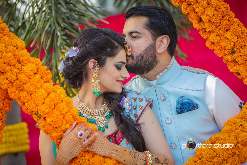 lovely wedding in Nandi Greens with marigold flowers and fun decor