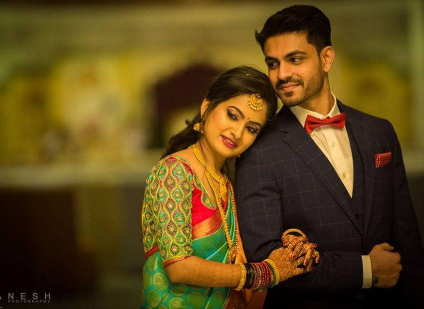 green pattu sari for bride by prakash silks and