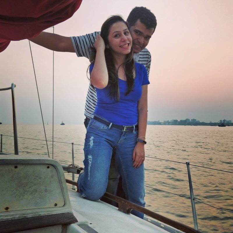 grand proposal on a yacht Gateway of India