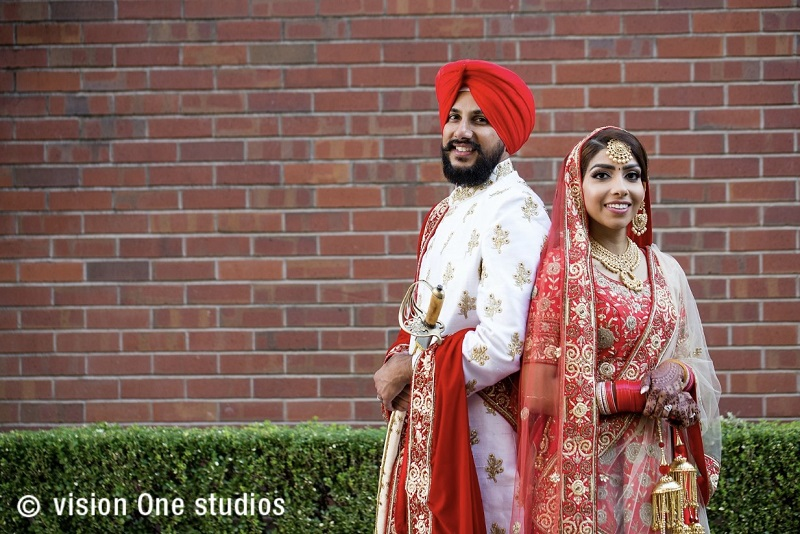 Sikh couple real wedding by vision one studios california