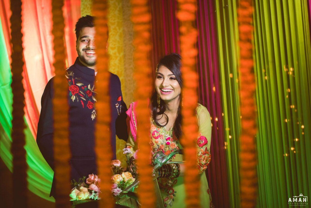 flowers decor and beautiful wedding dress