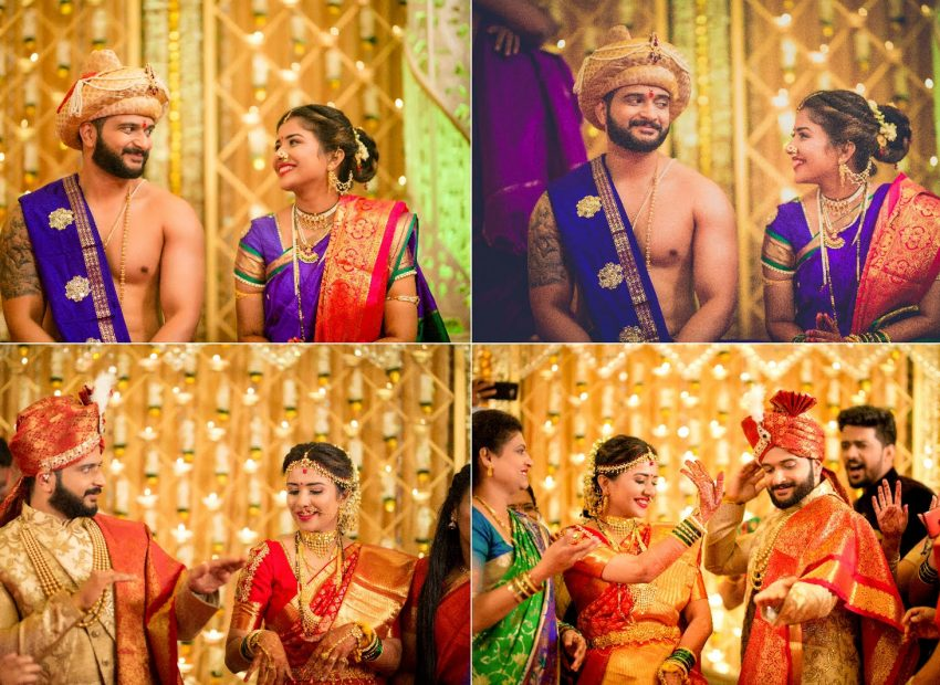 beautiful Maharashtrian real wedding Wedding Leaves Photography