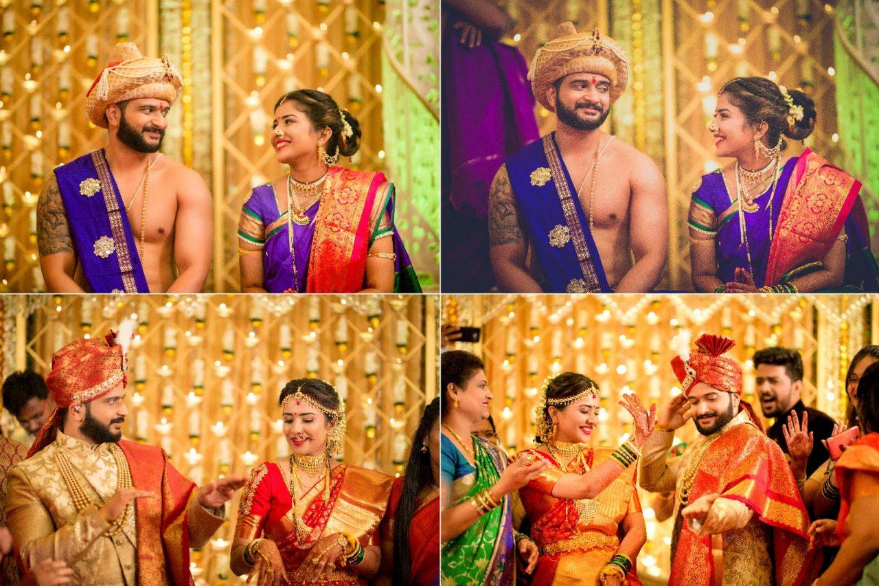 beautiful Maharashtrian real wedding Wedding Leaves Photography