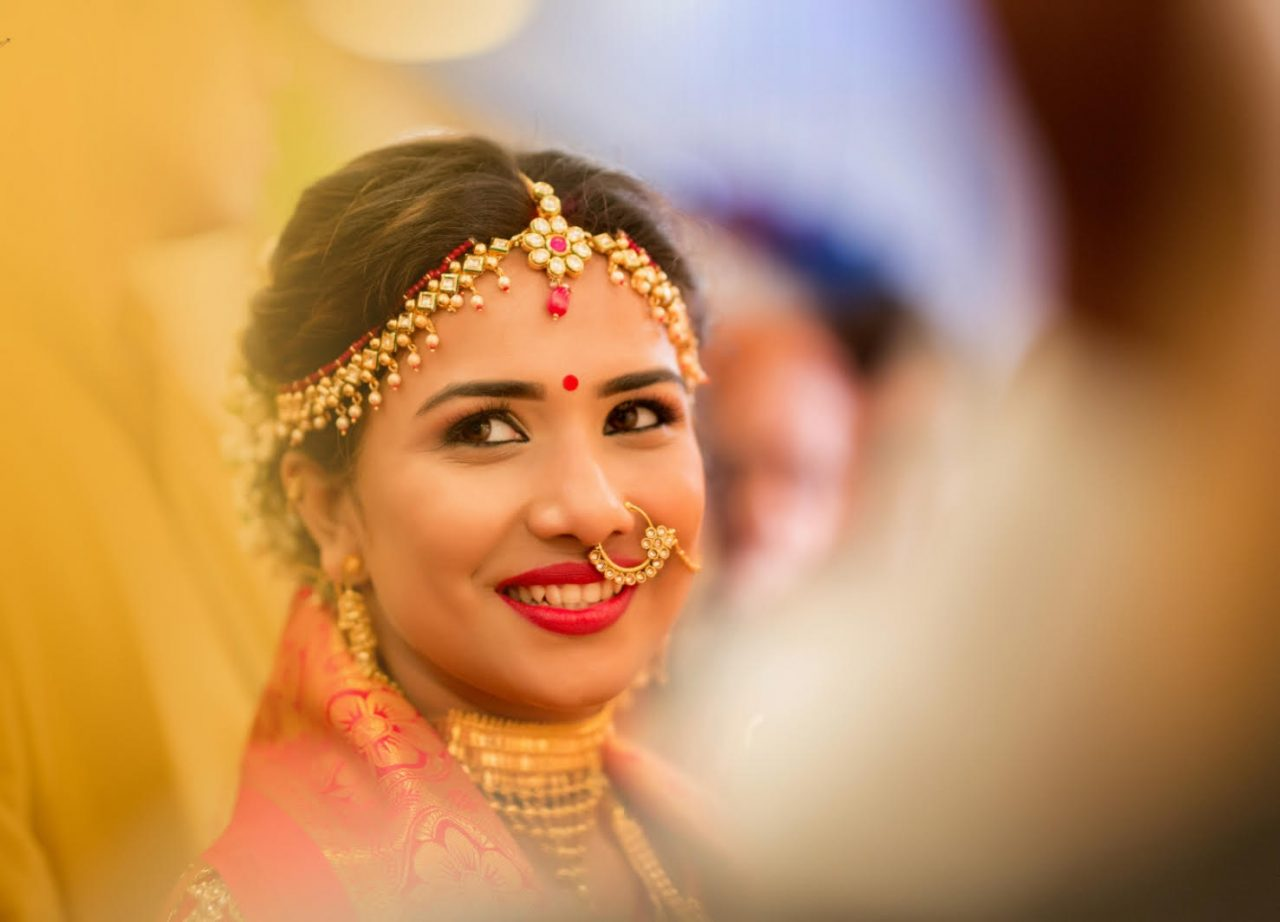 beautiful traditional Maharashtrian wedding jewelry matha patti