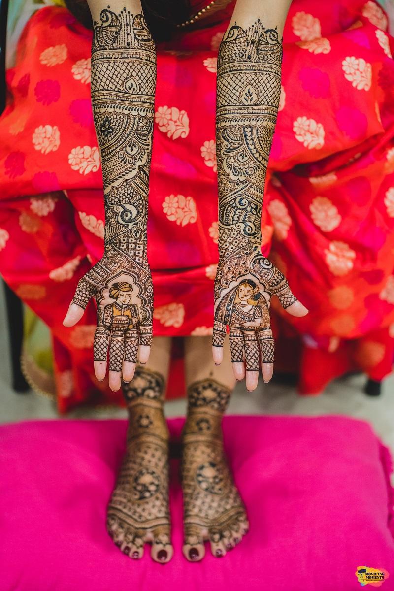 Mehendi for bride Gayatri Pradhan at Ayush resort Panvel wedding