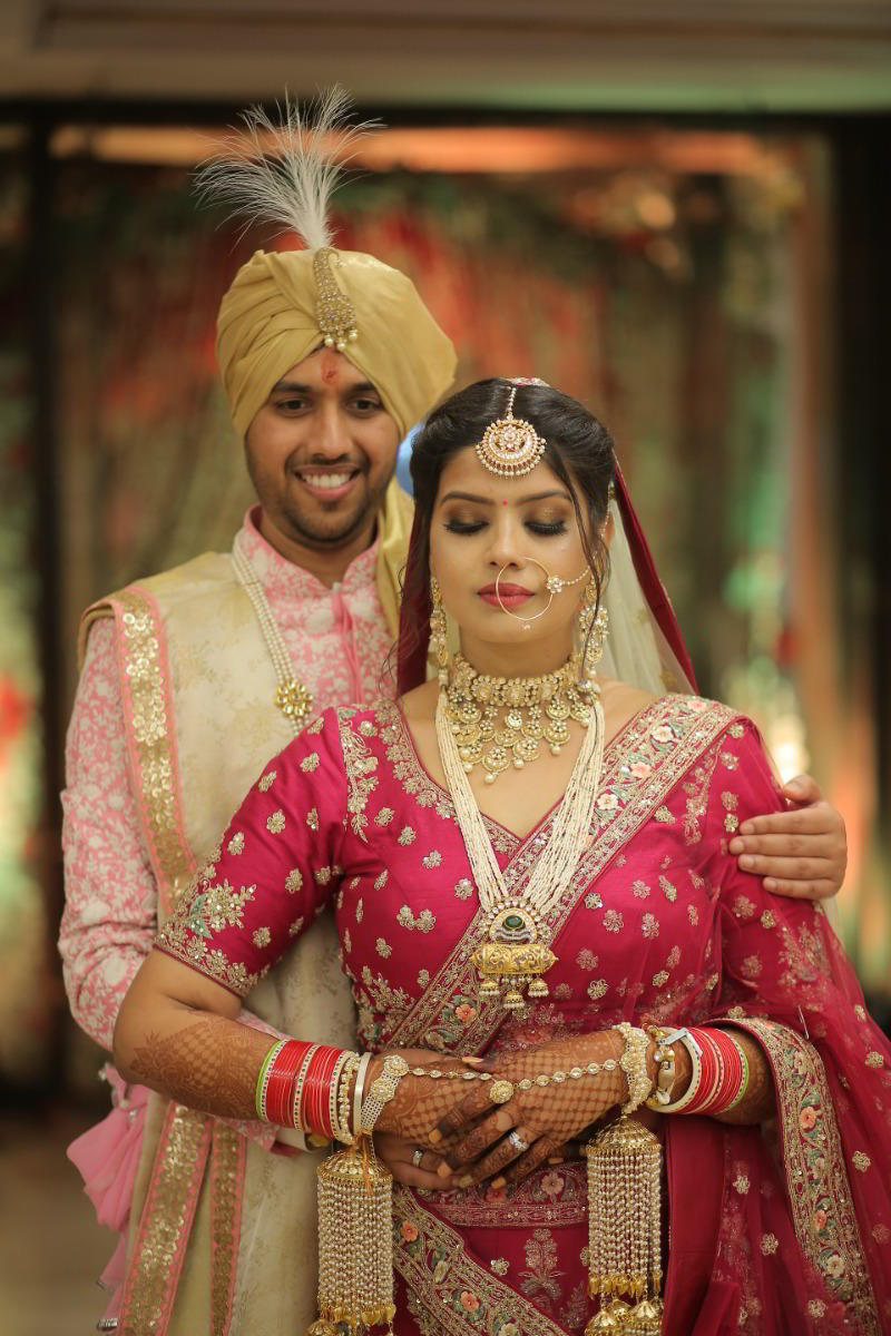 Pretty in Pink! This Couple Color Coordinated Their Wedding Dresses Perfectly! - India's Wedding ...