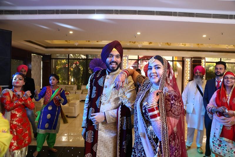 sikh wedding at Radiance Motel Delhi
