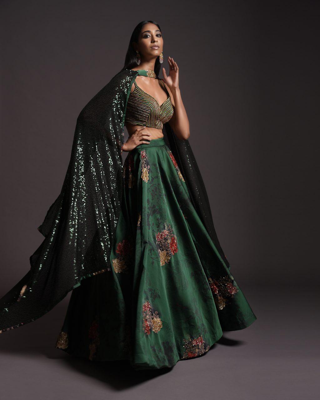 Captivating Copper Saree