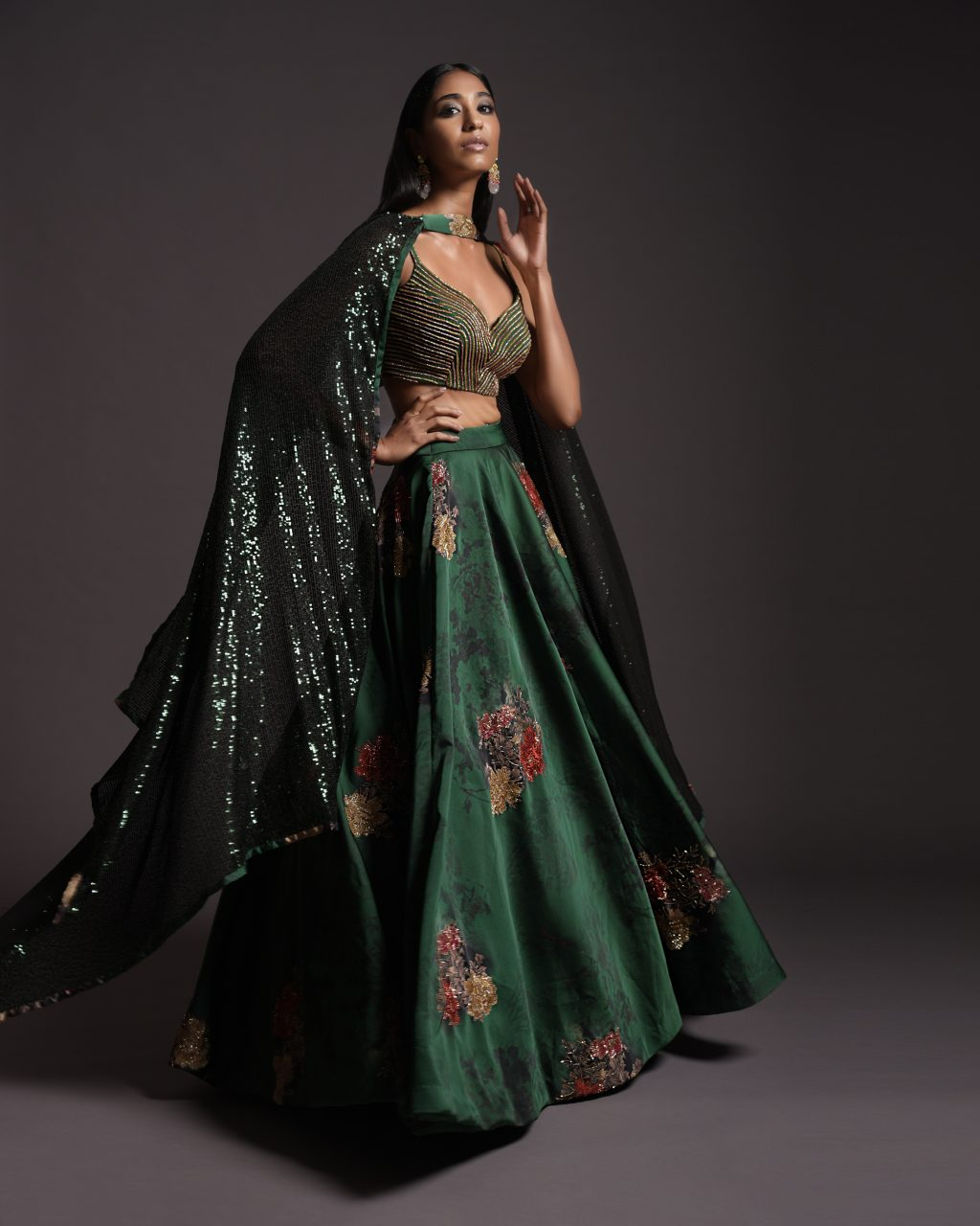 Captivating Copper Saree