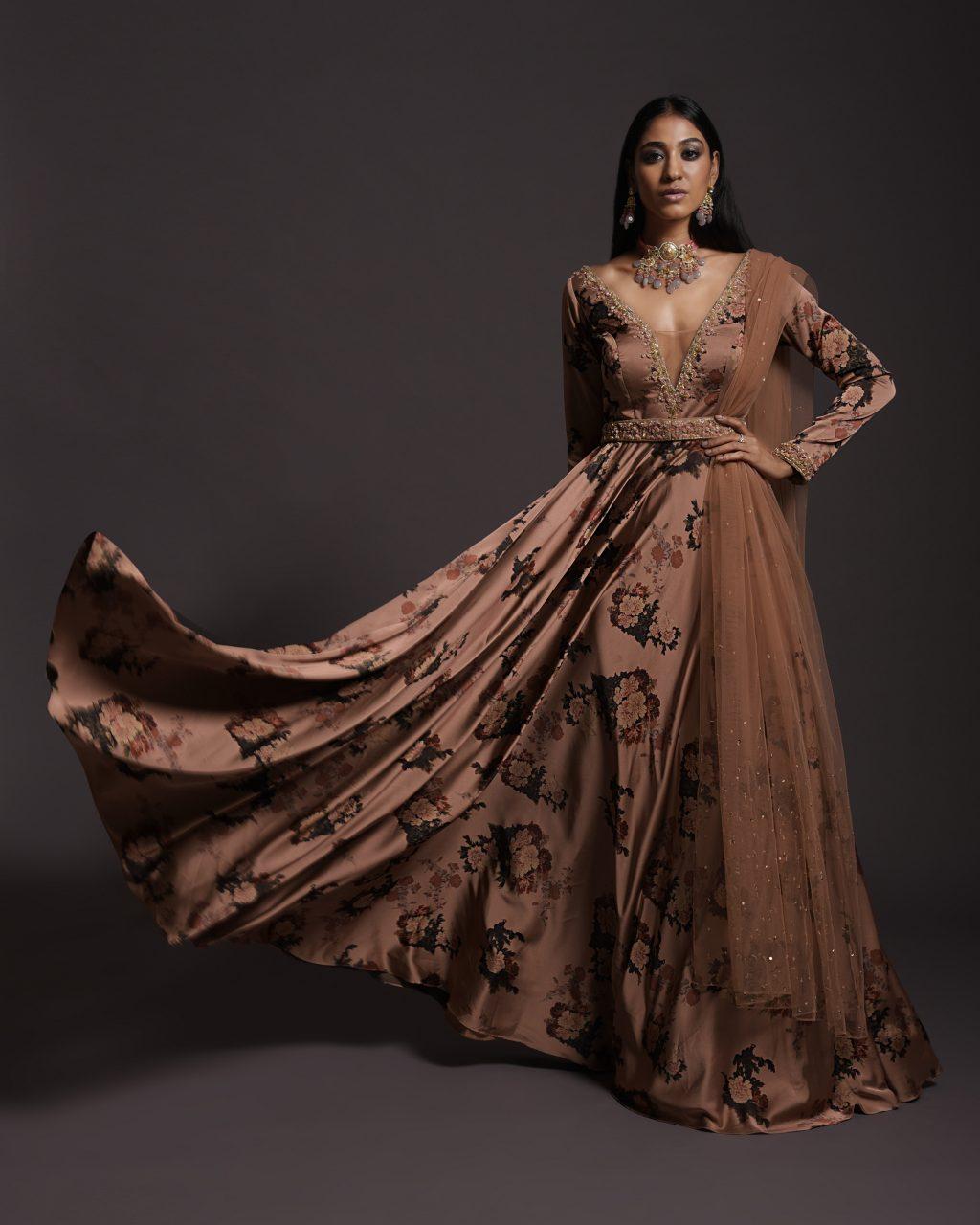 Peach Anarkali Suit
